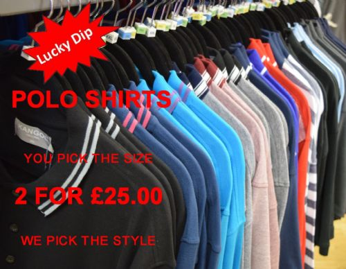 LUCKY DIP POLO SHIRTS (2 for £25)